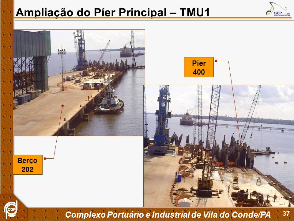 37 Complexo Portuário e Industrial de Vila do Conde/PA Ampliação do Píer Principal – TMU1 Píer 400 Berço 202