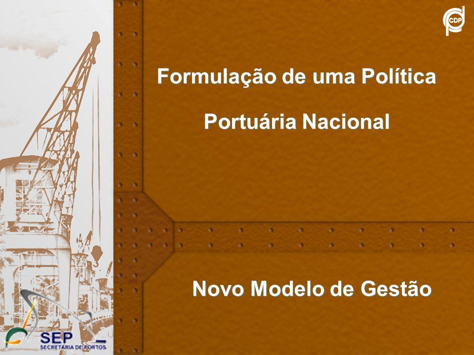 8 Formulação de uma Política Portuária Nacional Novo Modelo de Gestão