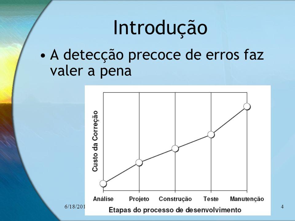 6/18/2014Ceça Moraes4 Introdução A detecção precoce de erros faz valer a pena