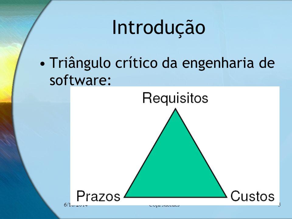 6/18/2014Ceça Moraes5 Introdução Triângulo crítico da engenharia de software: