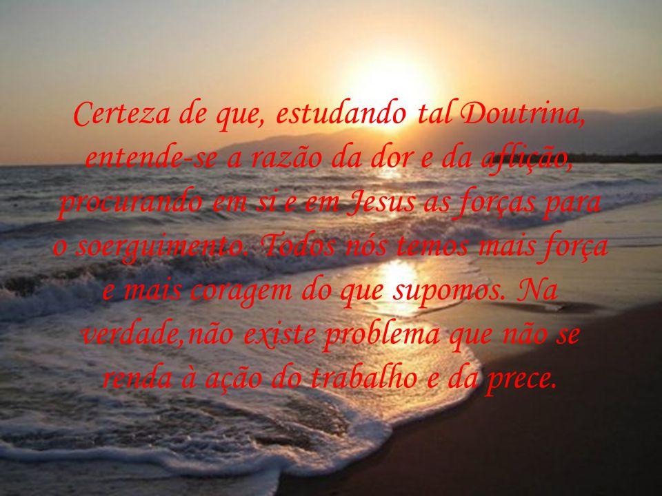 O Espiritismo, como Doutrina consoladora, ensina como se portar diante da vida, valorizando-a, enfrentando-a e superando suas dificuldades com coragem e discernimento, caminho seguro para a paz de espírito.