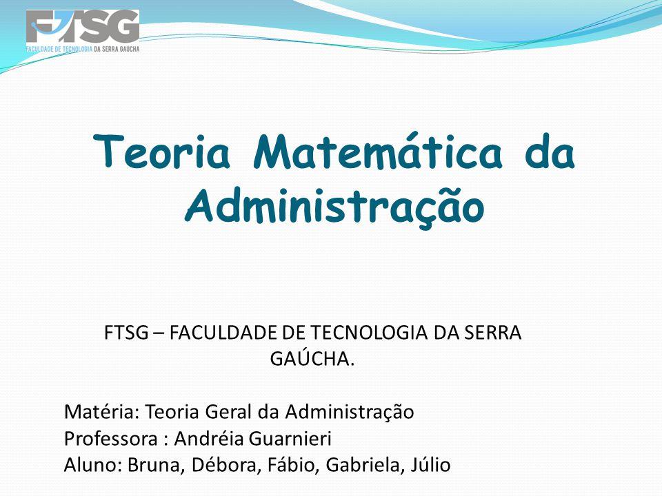 FTSG – FACULDADE DE TECNOLOGIA DA SERRA GAÚCHA.