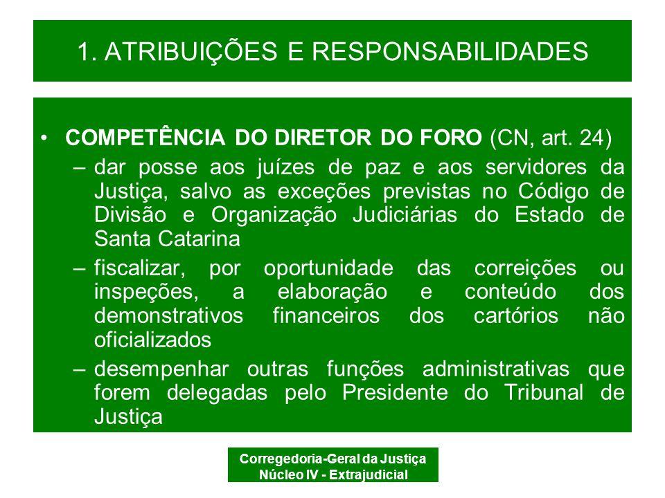 Corregedoria-Geral da Justiça Núcleo IV - Extrajudicial 1.