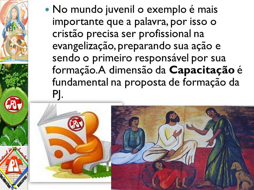 No mundo juvenil o exemplo é mais importante que a palavra, por isso o cristão precisa ser profissional na evangelização, preparando sua ação e sendo