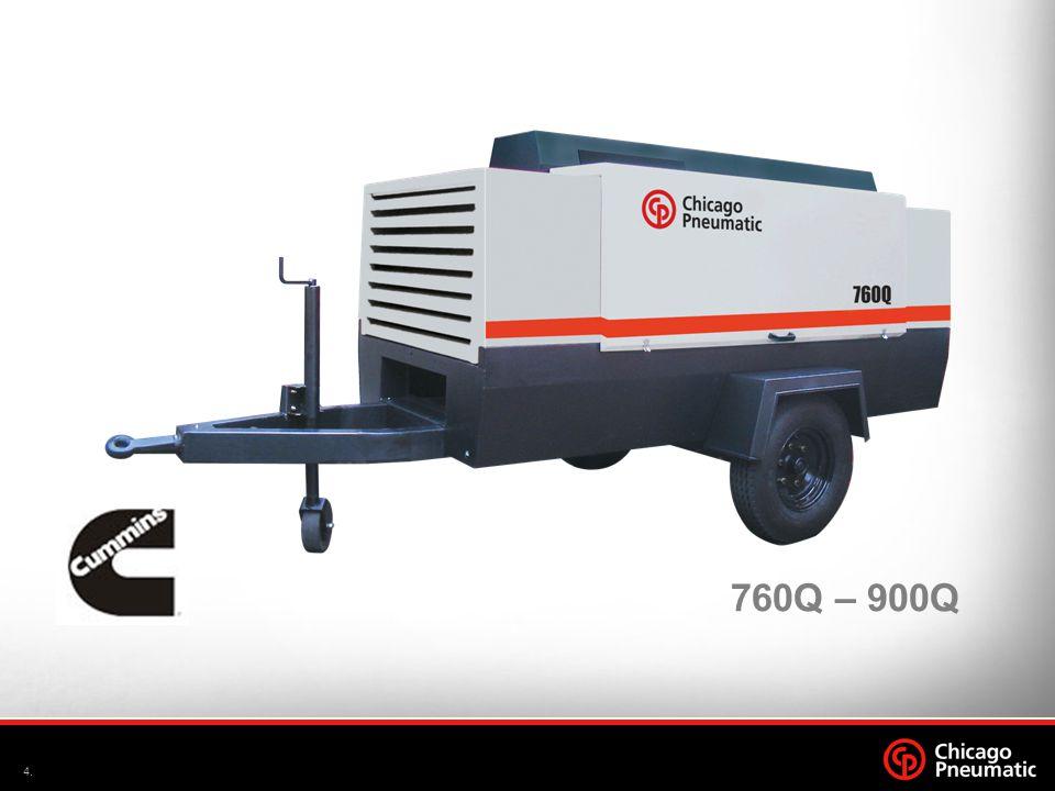 5.Set 09 Caracterísitcas Técnicas – 760Q 760Q 747 pcm @ 7 bar Elemento Compressor –Acionamento por acoplamento direto Saída de Ar: 2 x ¾ + 1 x 2 1 Estágio de compressão Máxima temperatura ambiente: 50°C Mínima temperatura ambiente: 0°C Bateria: 12V DC / 150Ah Modelo Pneu: 7,5 x 16 Nível de ruído (7m): 78 dB(A) Máxima velocidade de reboque: 20Km/h Documentação do Reservatório conforme NR-13
