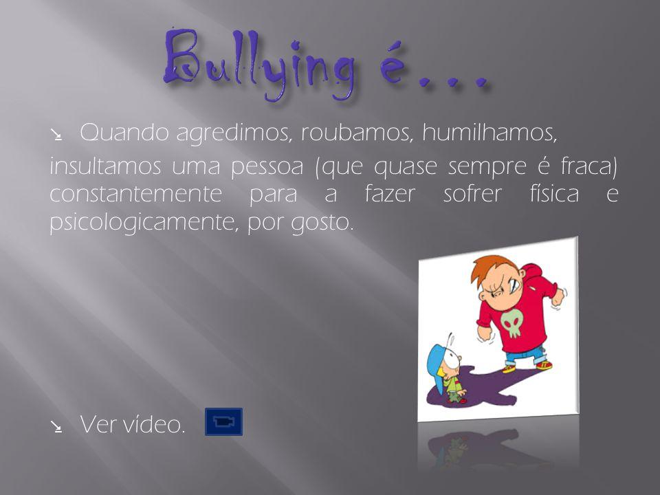 Bullying Físico Bullying Verbal Bullying Psicológico Bullying Sexual Cyberbullying