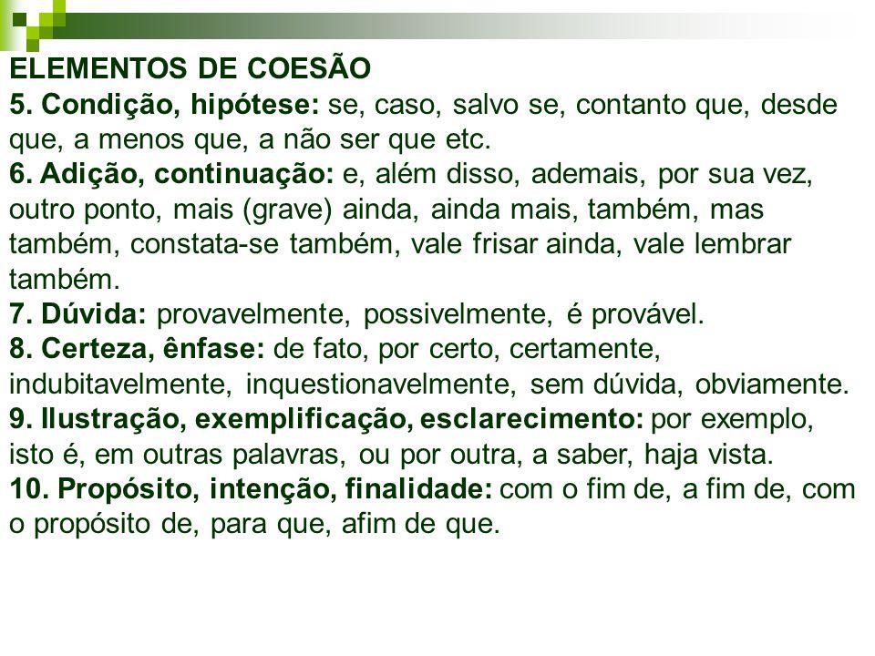 ELEMENTOS DE COESÃO 5.