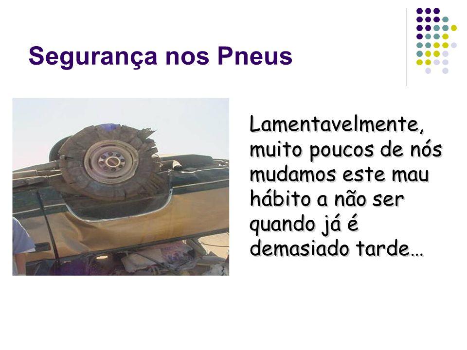 Segurança nos Pneus Sabia que os pneus possuem um prazo limite de quatro anos após fabrico e que num lado do pneu pode encontrar a data de fabrico ?