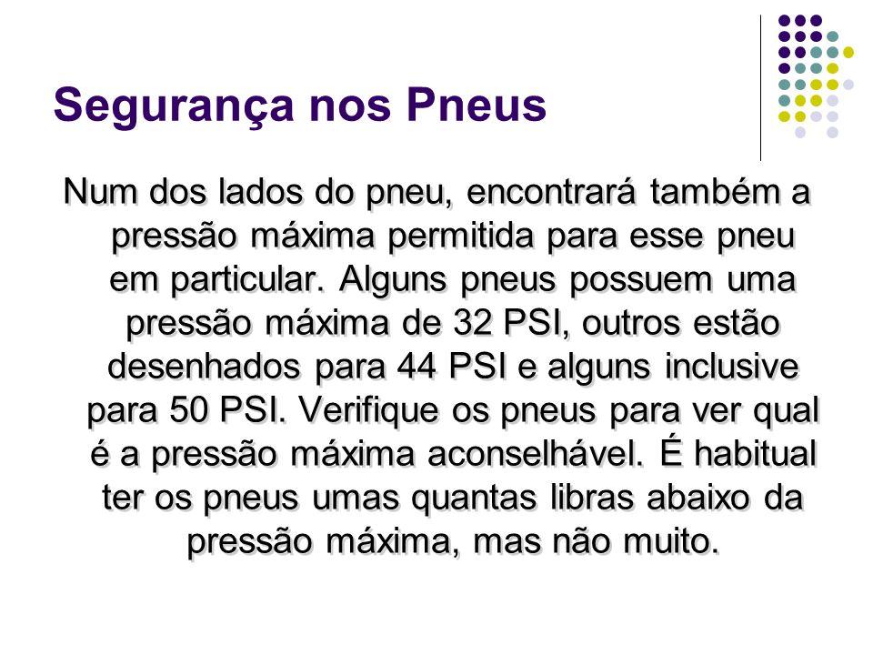Segurança nos Pneus (44 psi) PRESS MÁX MAX PRESS ACEITÁVEL 32 PSI28 PSI 44 PSI35 PSI 50 PSI44 PSI MAX PRESS ACEITÁVEL 32 PSI28 PSI 44 PSI35 PSI 50 PSI44 PSI