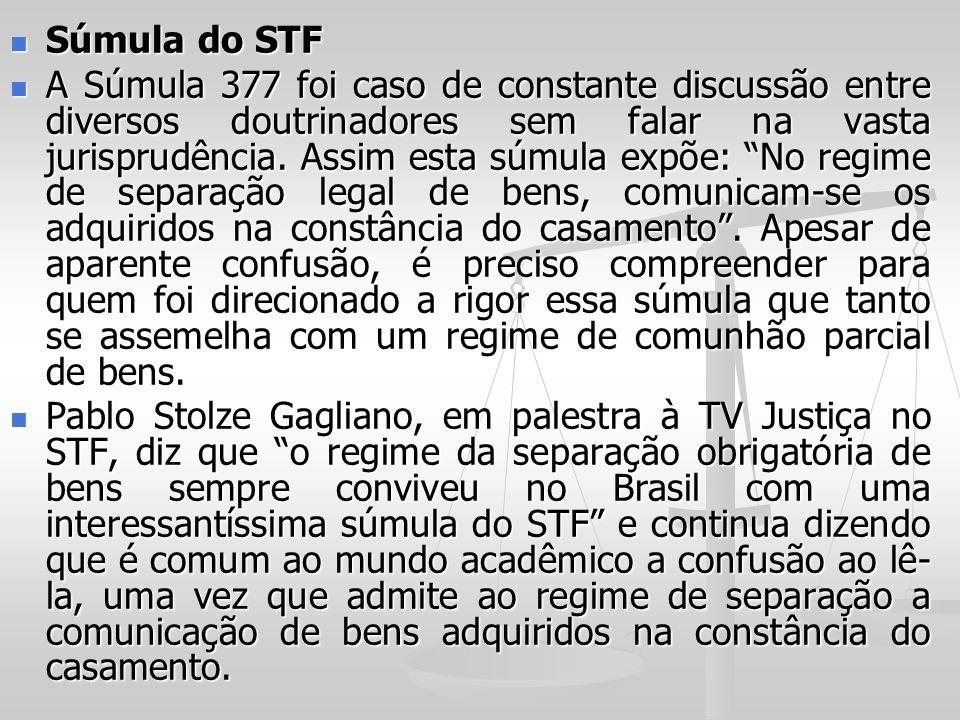 Súmula do STF Súmula do STF A Súmula 377 foi caso de constante discussão entre diversos doutrinadores sem falar na vasta jurisprudência. Assim esta sú