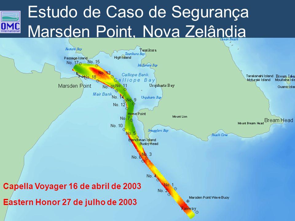 Estudo de Caso de Segurança Marsden Point, Nova Zelândia Eastern Honor 27 de julho de 2003 Capella Voyager 16 de abril de 2003