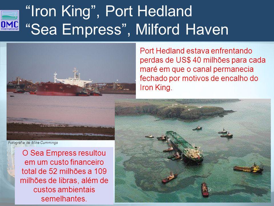 Iron King, Port Hedland Sea Empress, Milford Haven Fotografia de Mike Cummings Port Hedland estava enfrentando perdas de US$ 40 milhões para cada maré