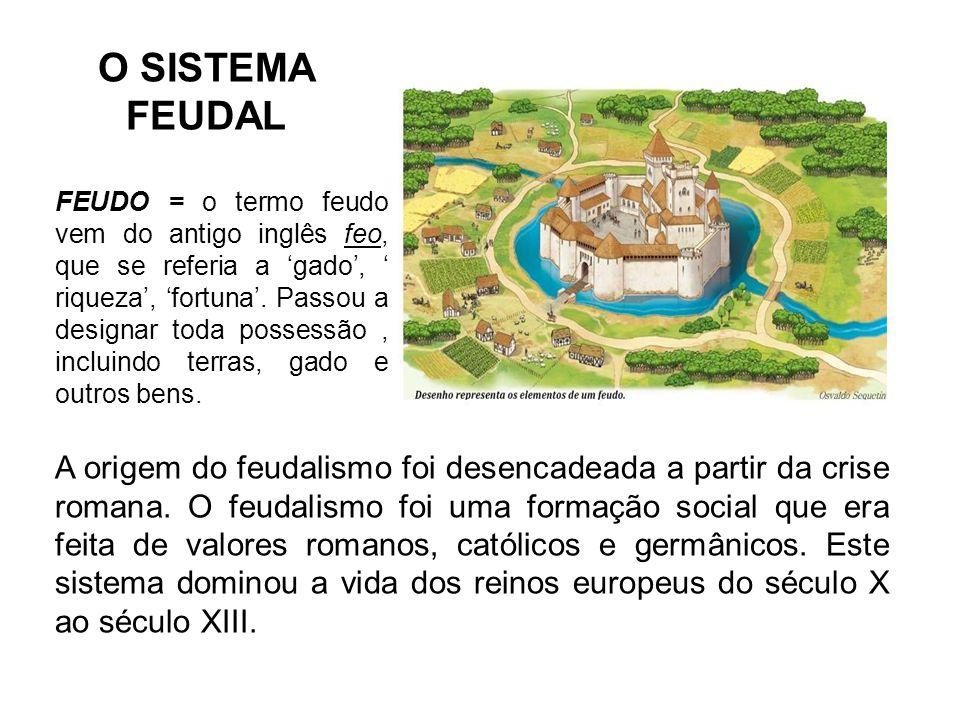 O SISTEMA FEUDAL A origem do feudalismo foi desencadeada a partir da crise romana.