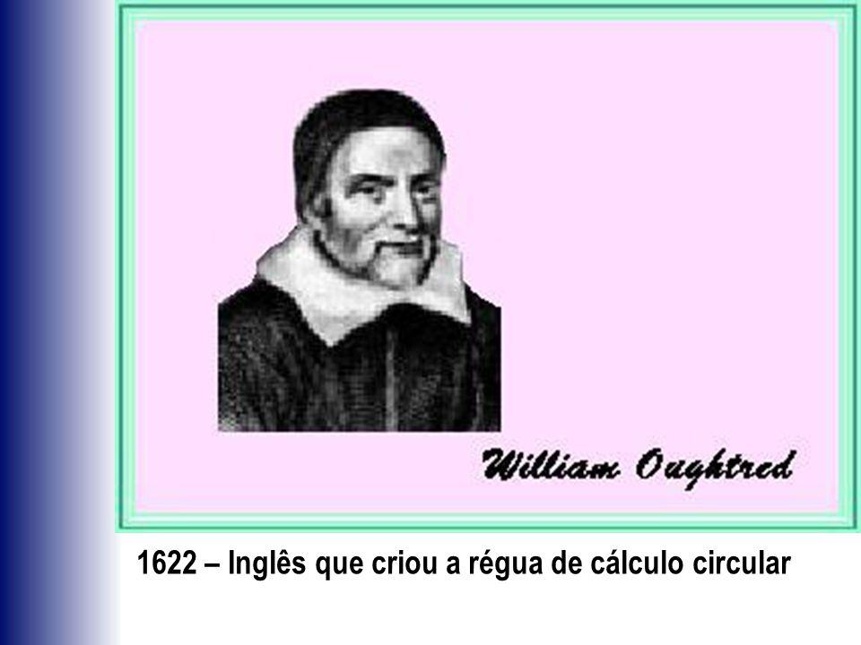1622 – Inglês que criou a régua de cálculo circular