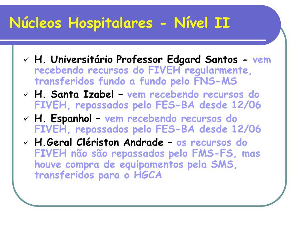 Núcleos Hospitalares - Nível II H.