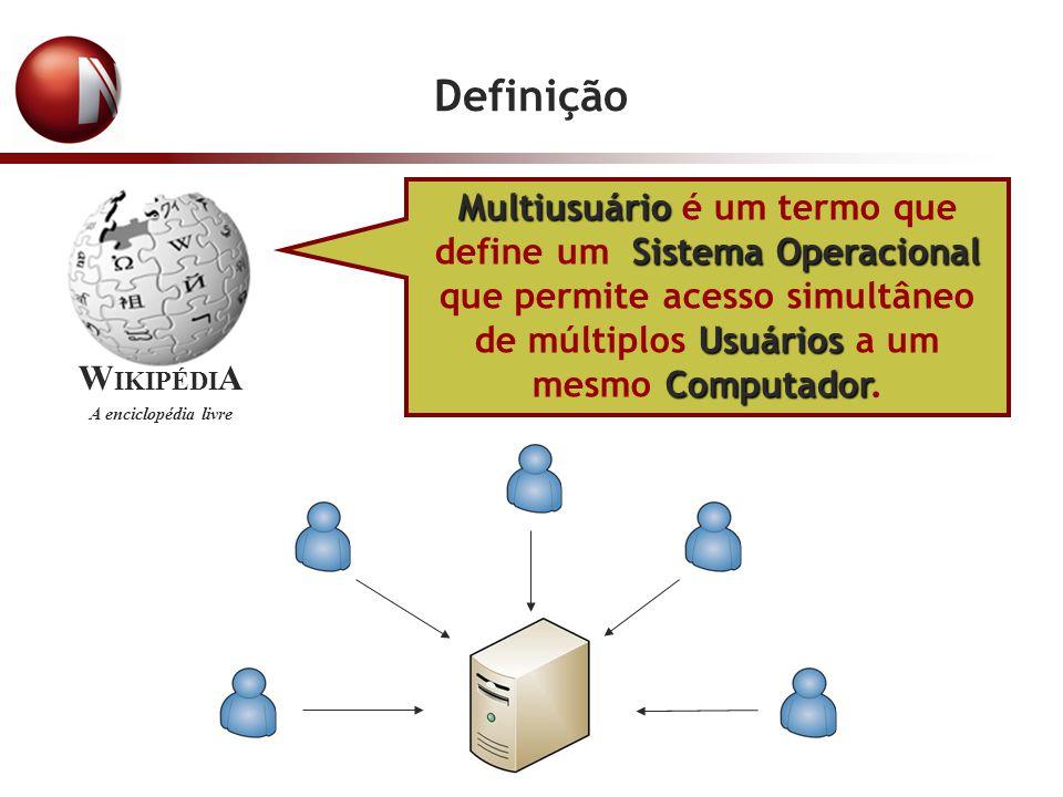 Definição Multiusuário Sistema Operacional Usuários Computador Multiusuário é um termo que define um Sistema Operacional que permite acesso simultâneo