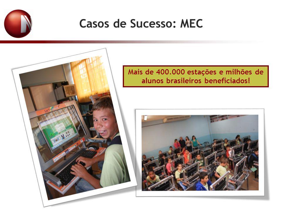 Casos de Sucesso: MEC Mais de 400.000 estações e milhões de alunos brasileiros beneficiados!
