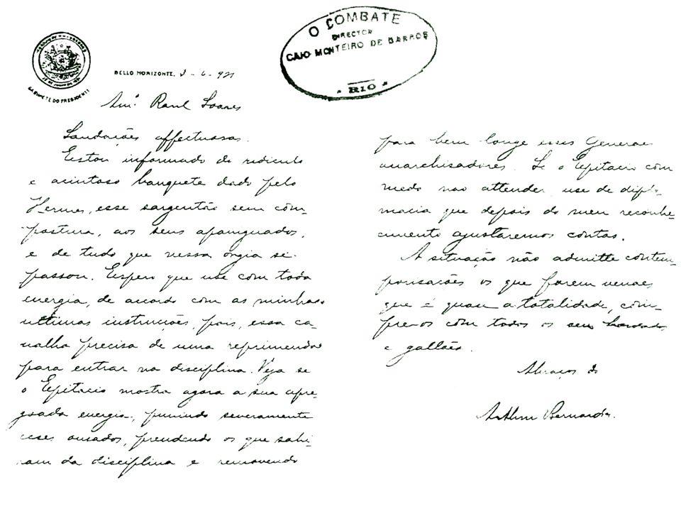 Novas forças sociais e políticas (1919-1930) Oligarquias estaduais descontentes com o predomínio de São Paulo e Minas no Governo Federal Oligarquias d