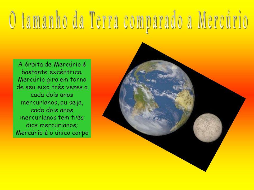 A órbita de Mercúrio é bastante excêntrica. Mercúrio gira em torno de seu eixo três vezes a cada dois anos mercurianos, ou seja, cada dois anos mercur