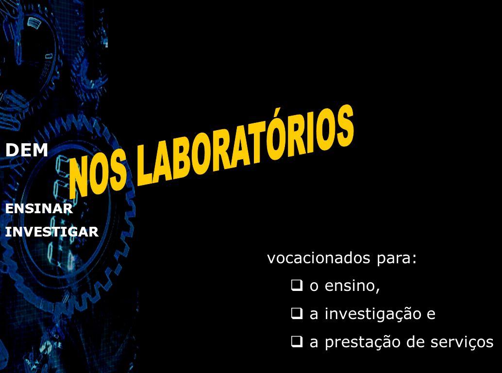 DEM ENSINAR em vários centros de investigação: