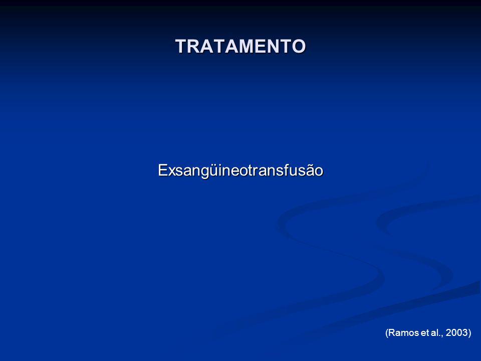 Exsangüineotransfusão TRATAMENTO (Ramos et al., 2003)