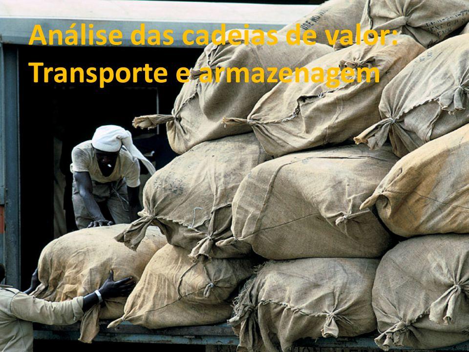 Análise das cadeias de valor: Transporte e armazenagem