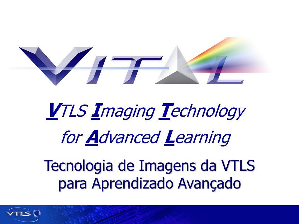 Visionary Technology in Library Solutions Armazenamento de Metadados XML Baseado em Padrões Esquema XML/METS Dublin Core EAD MARC Formato AMICO XML Formatos Adicionais podem ser adicionados rapidamente Metadados podem ser exportados em XML para uso em outras aplicações