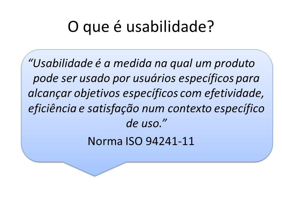 O que é usabilidade.