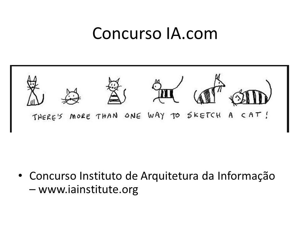 Concurso Instituto de Arquitetura da Informação – www.iainstitute.org Concurso IA.com