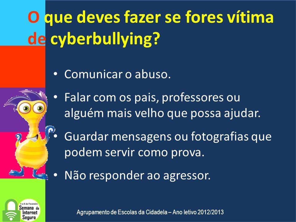 O que é o cyberbullying? Bullying Forma direta de agressão física e psicológica intencional e repetida. Manifesta-se através de insultos, piadas, apel