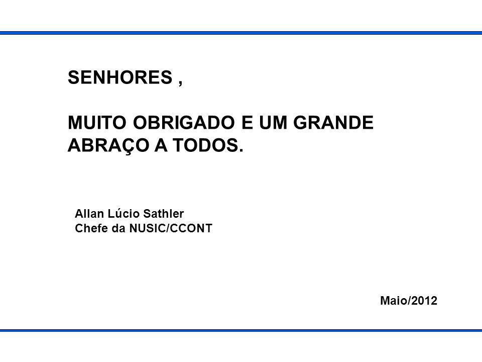 SENHORES, MUITO OBRIGADO E UM GRANDE ABRAÇO A TODOS.