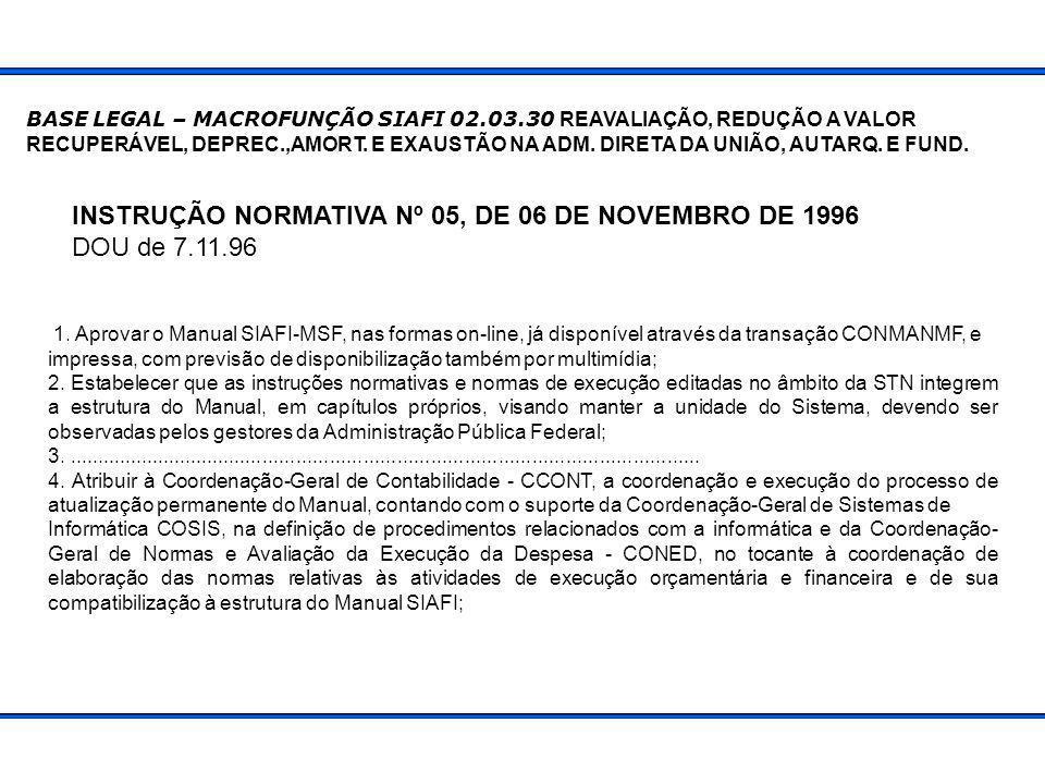 Base monetária confiável Critério de avaliação de ativos PERÍODO DE TRANSIÇÃO GERA