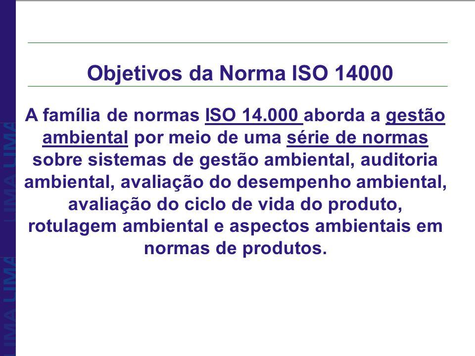 A família de normas ISO 14.000 aborda a gestão ambiental por meio de uma série de normas sobre sistemas de gestão ambiental, auditoria ambiental, aval