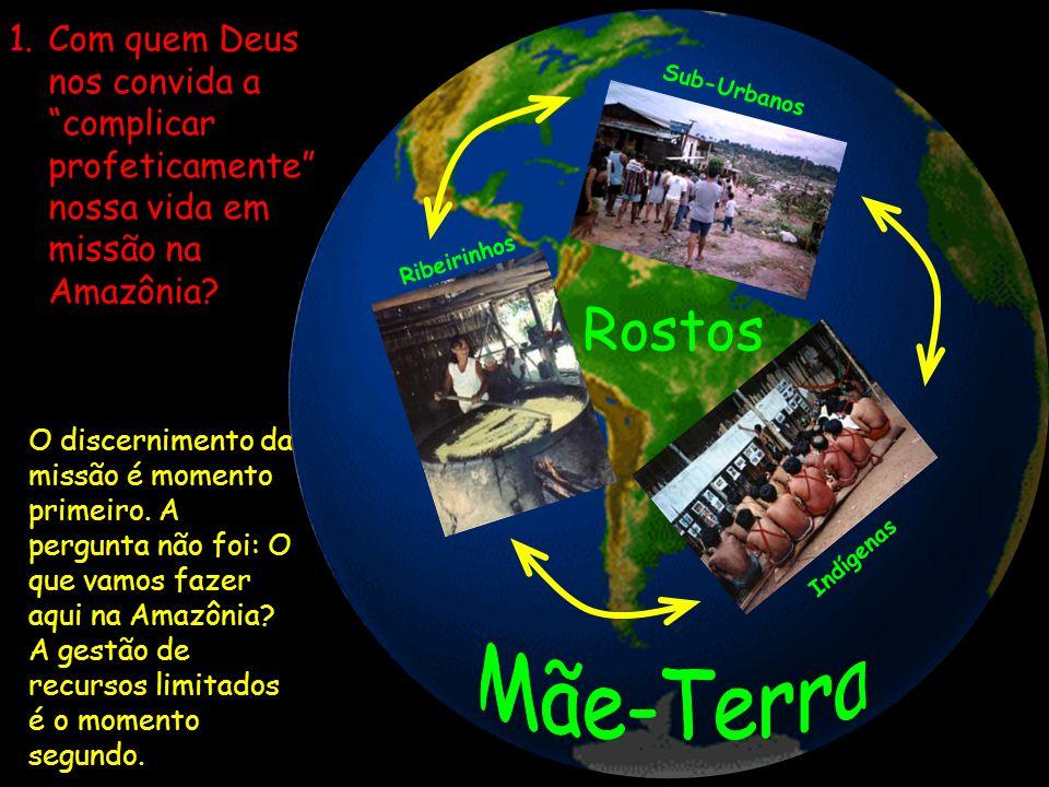 1.Com quem Deus nos convida a complicar profeticamente nossa vida em missão na Amazônia? Sub-Urbanos Indígenas Ribeirinhos Rostos O discernimento da m