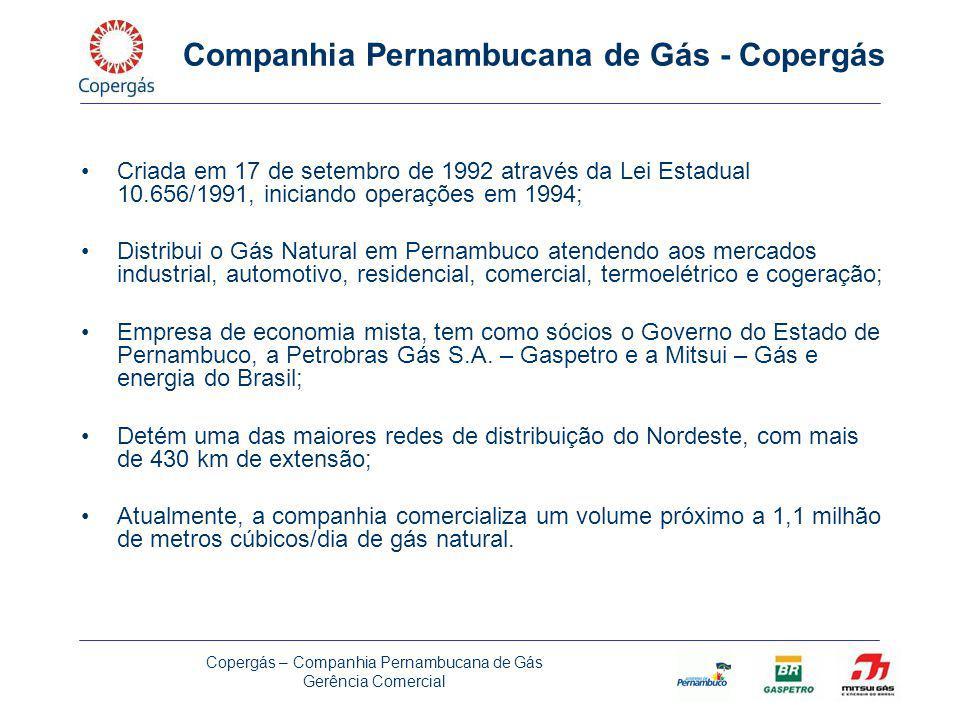 Copergás – Companhia Pernambucana de Gás Gerência Comercial Exemplos de algumas empresas transportadoras de GNC em Pernambuco