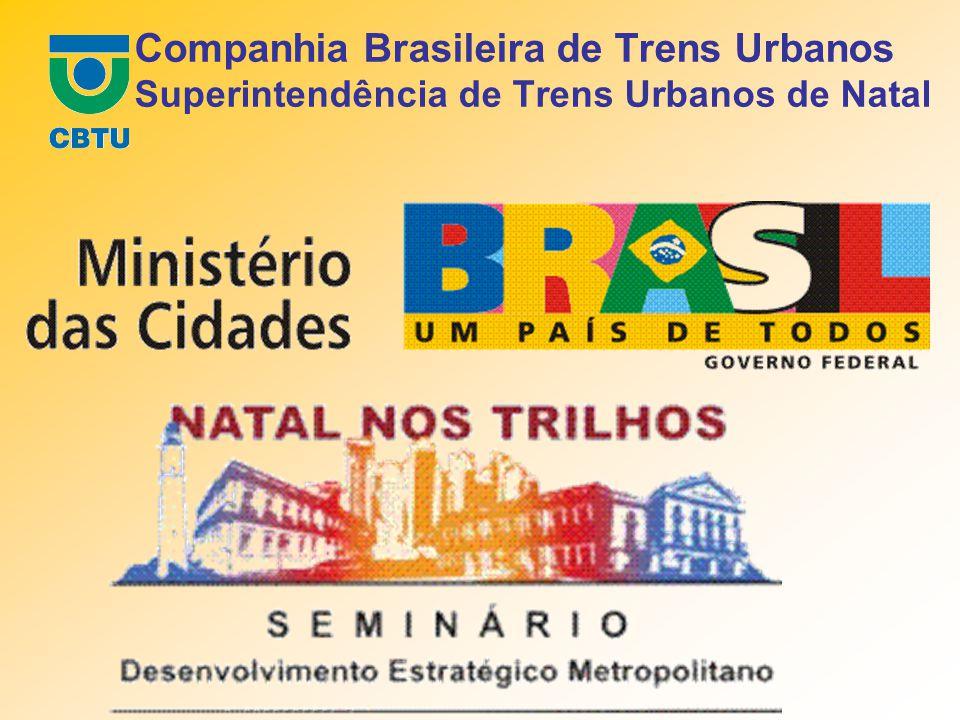 Apresentação José Fernandes da Silva Superintendente de Trens Urbanos de Natal OS TRILHOS NA REGIÃO METROPOLITANA DE NATAL TRENS URBANOS E ZONA NORTE