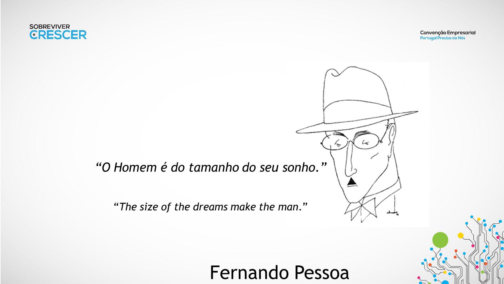 O Homem é do tamanho do seu sonho. The size of the dreams make the man. Fernando Pessoa