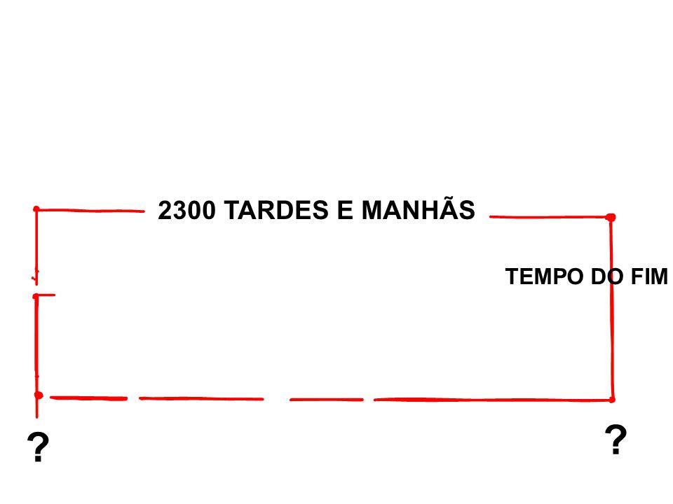 2300 TARDES E MANHÃS ? ? TEMPO DO FIM