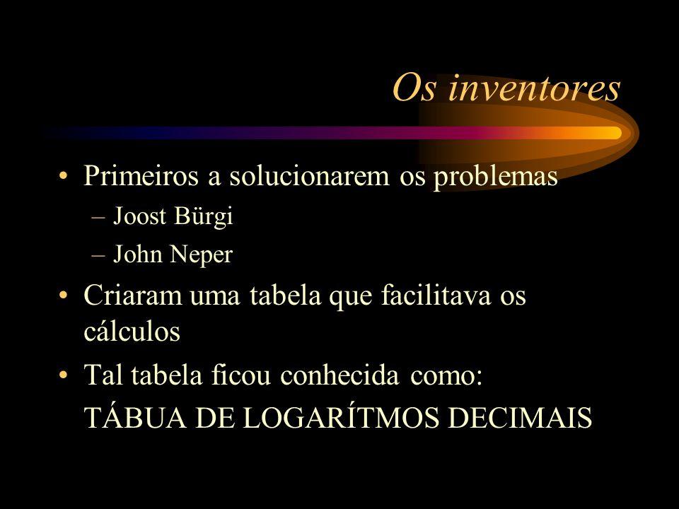Forçando a descoberta A esta altura dos acontecimentos, os matemáticos necessitavam criar operações que simplificassem os cálculos. Lembre-se que: –Nã