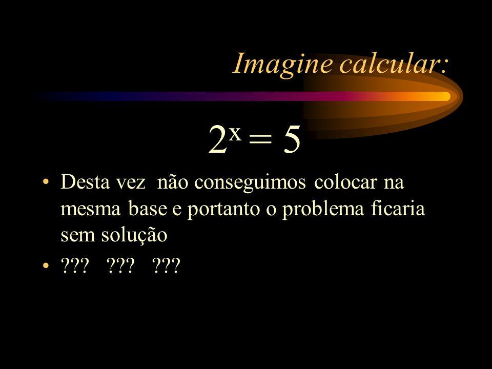 Relembrar também é viver... Lembre: 2 x = 8 2 x = 2 3 x = 3 Assim, S={3}