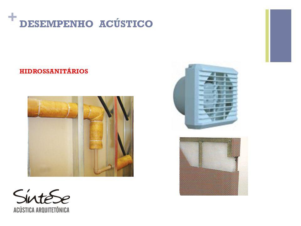 + HIDROSSANITÁRIOS DESEMPENHO ACÚSTICO