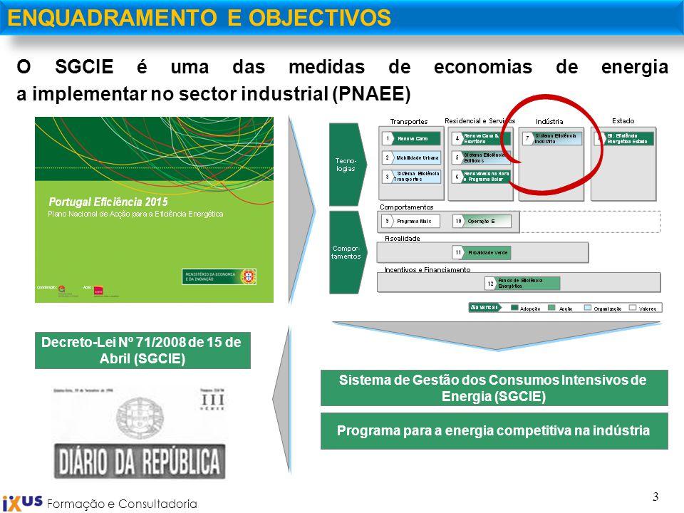 3 O SGCIE é uma das medidas de economias de energia a implementar no sector industrial (PNAEE) ENQUADRAMENTO E OBJECTIVOS Sistema de Gestão dos Consum