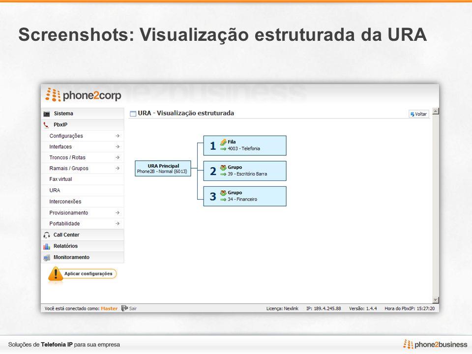 Screenshots: Interconexões