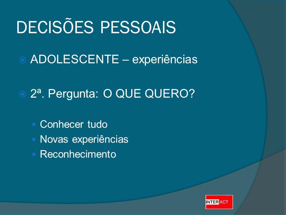 CICLO DE VIDA DA CLÍNICA ADOLESCENTE – experiências 2ª.