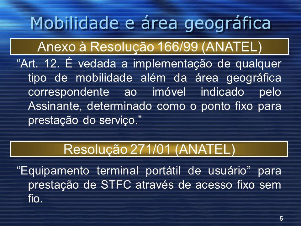 5 Mobilidade e área geográfica Art. 12.