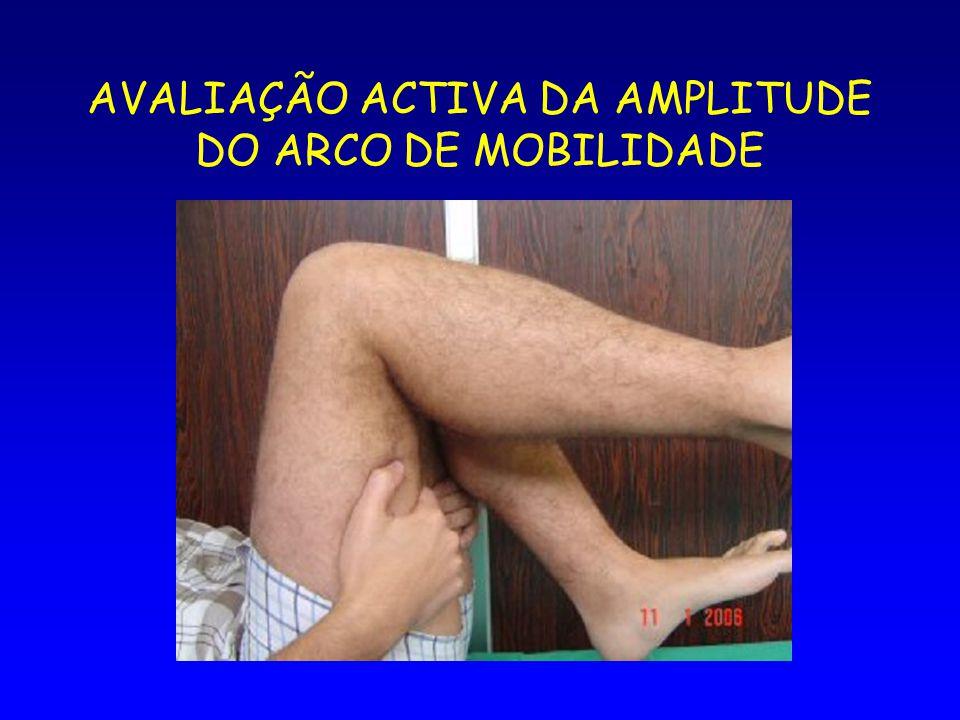 AVALIAÇÃO ACTIVA DA AMPLITUDE DO ARCO DE MOBILIDADE
