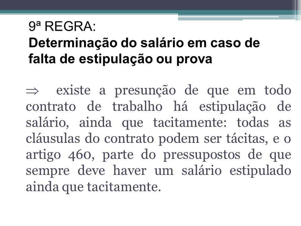 Artigo 460 CLT: Na falta de estipulação do salário ou não havendo prova sobre a importância ajustada, o empregado terá direito a perceber salário igua