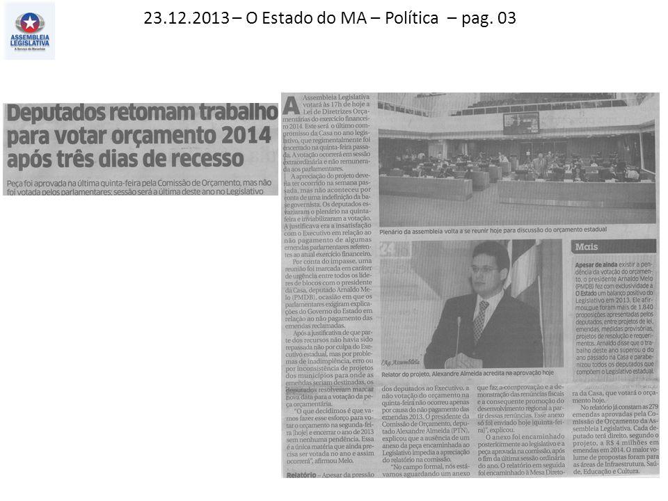 09.12.2013 – Jornal Pequeno – Polícia – pag. 12