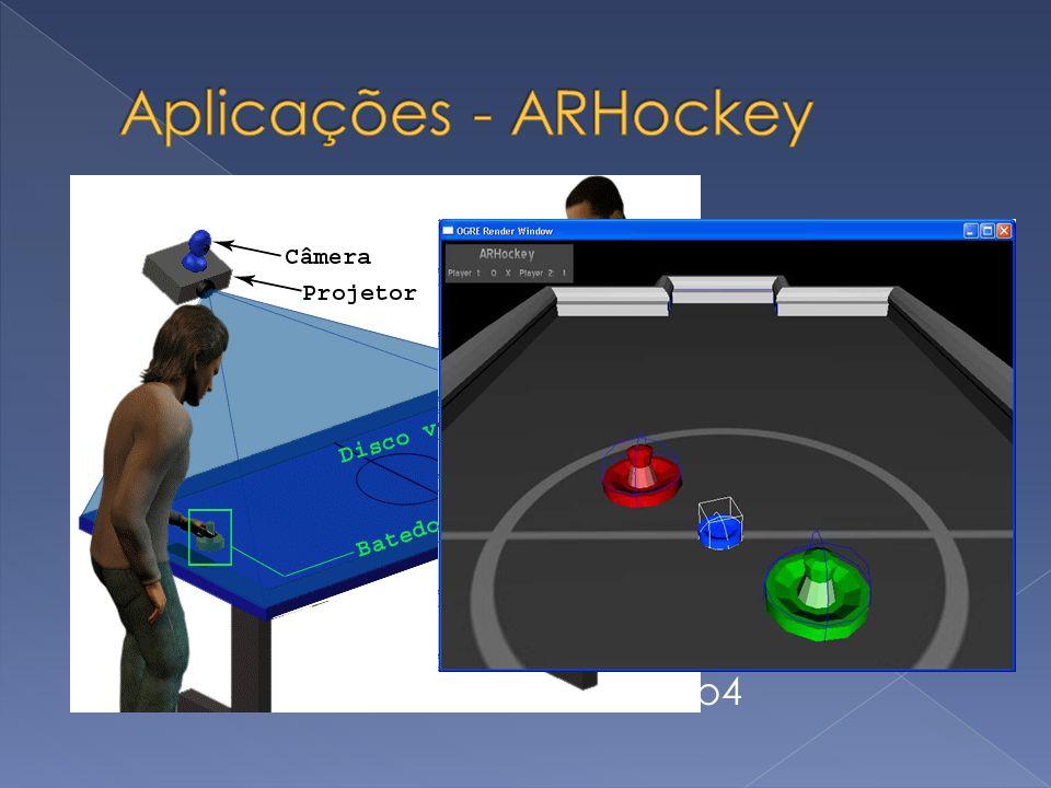 OpenCV Tracking, detecção de movimento OpenGL Computação gráfica 3D ODE – Open Dynamics Engine Simulação da interação dos objetos Fenômenos físicos De