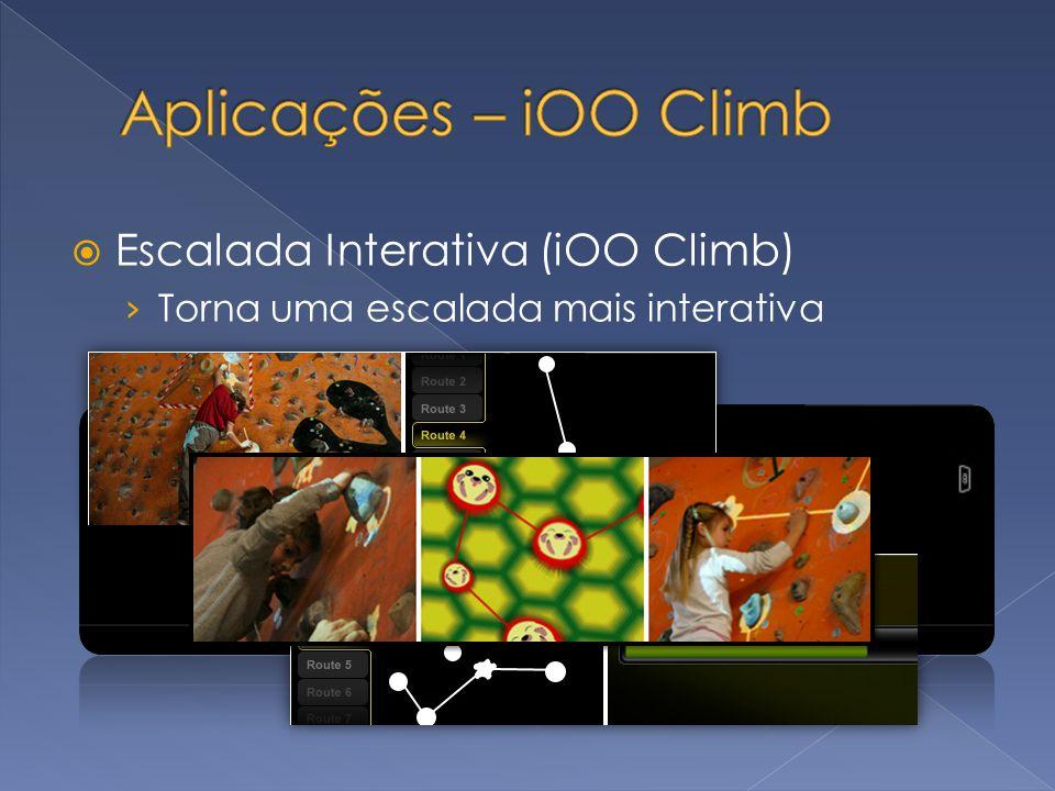 Escalada Interativa (iOO Climb) Torna uma escalada mais interativa